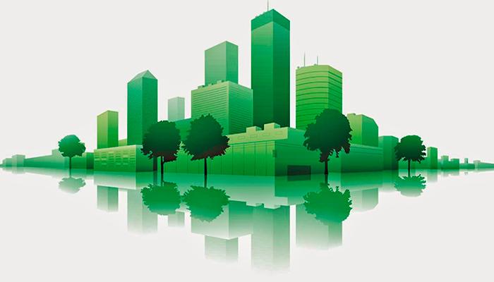 ciudad verde resultado de una construcción sostenible