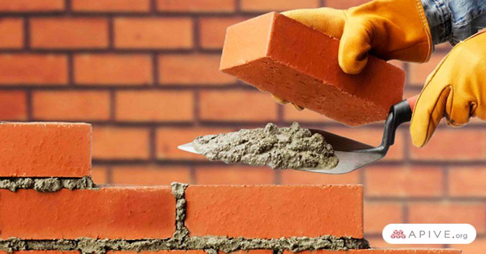 ladrillos con cemento en la construcción sustentable