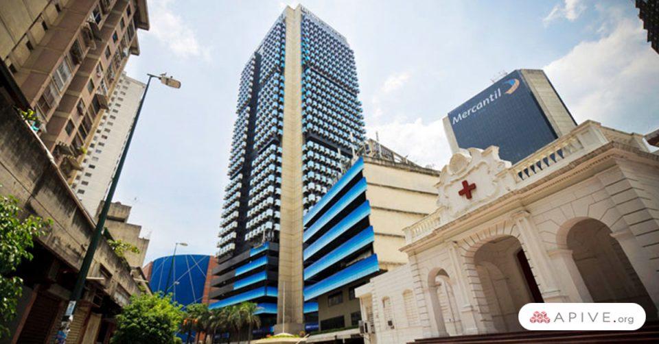 edificio más alto de venezuela azul en medio de la capital